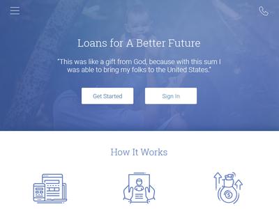 Loan Application Responsive Website responsive design ui application loan finance mobile