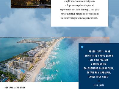 Retiring Abroad Landing Page travel finance website design ui