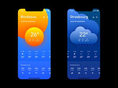 Weather app ui mobile meteo forecast weather app weather