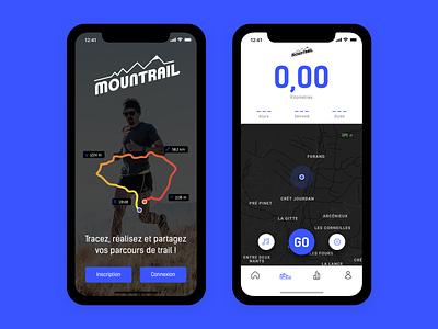 Mountrail mountain calorie health fitness sport ui mobile app run running trail