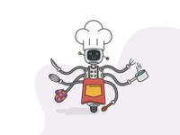 Robot cooking