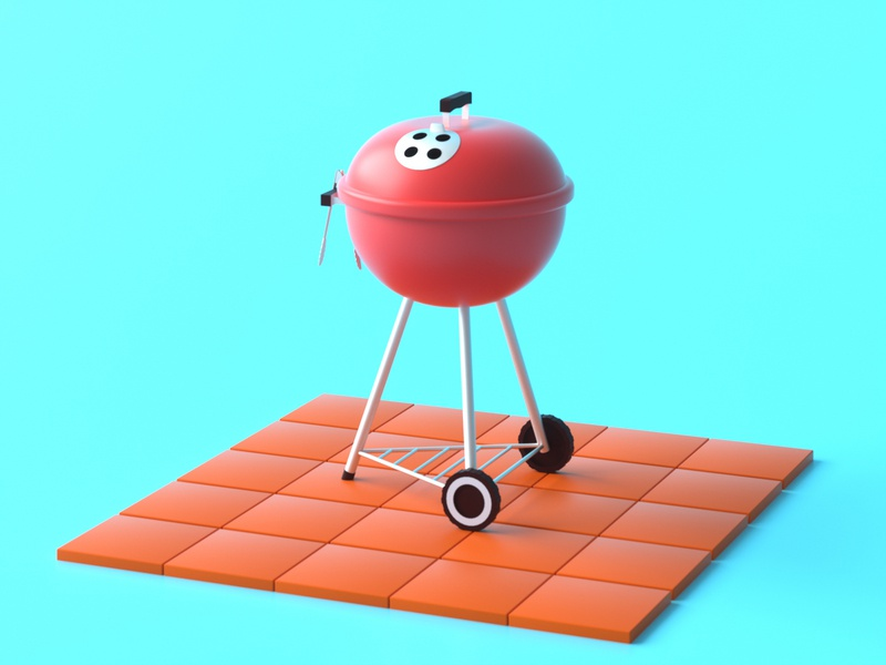 Grill Season render illustration c4d octane 3d