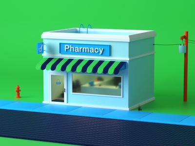 Lil Ole Pharmacy pharmacy octane 3d illustration c4d