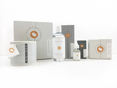 Lois + Clark Optometry eyes optometry design packaging branding
