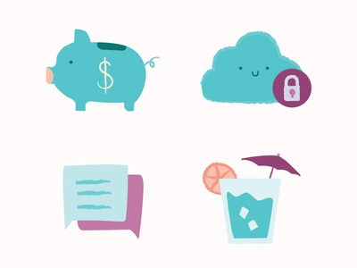 HR Cloud Icons
