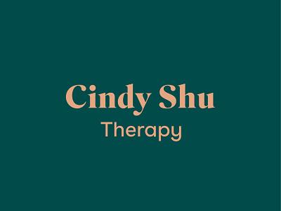 Cindy Shu Therapy branding identity branding and identity branding design logotype logodesign branding logo