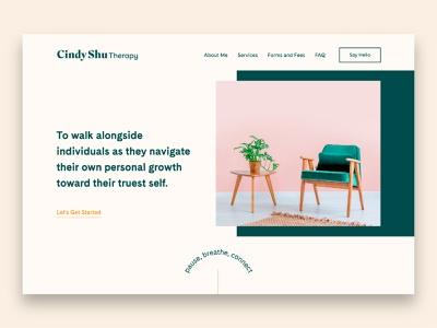 Cindy Shu Therapy Website branding agency chair therapist therapy logodesign logo design logotype logo branding and identity branding identity branding design branding wix website design website