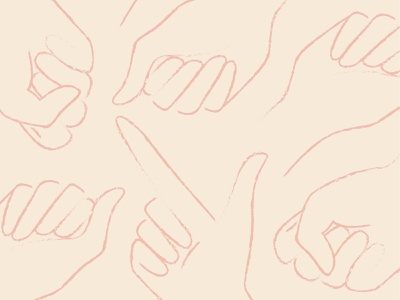 Patty Oh Pattern hand illustration sketch hand hands patterns american sign language sign language people vector branding branding design branding and identity design illustration art illustration pattern art pattern design pattern