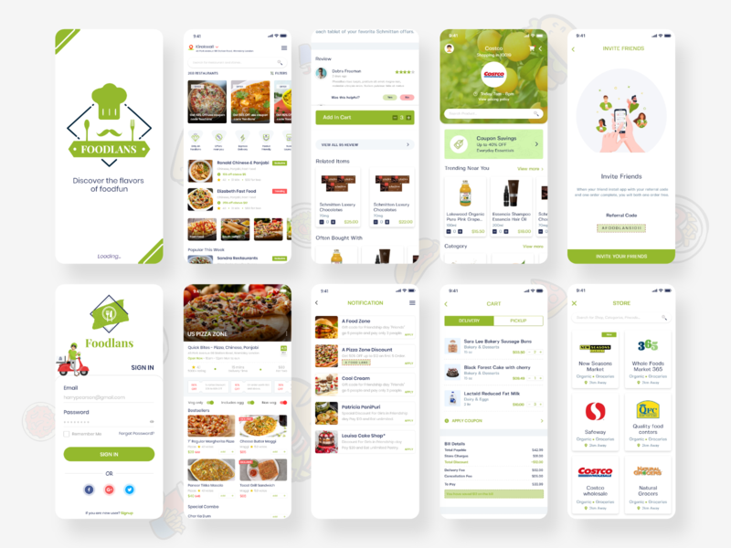 Foodlands - Food Delivery App UI UX Design design app uidesign dailyui ui ux