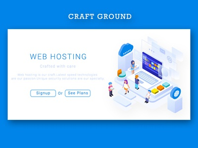 Craft Ground - Shot for Craft in web hosting
