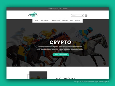 Crypto Concept - Website Redesign