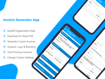 Invoice Generator Mobile App Concept