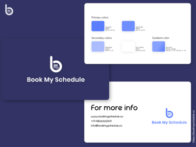 Book My Schedule Branding