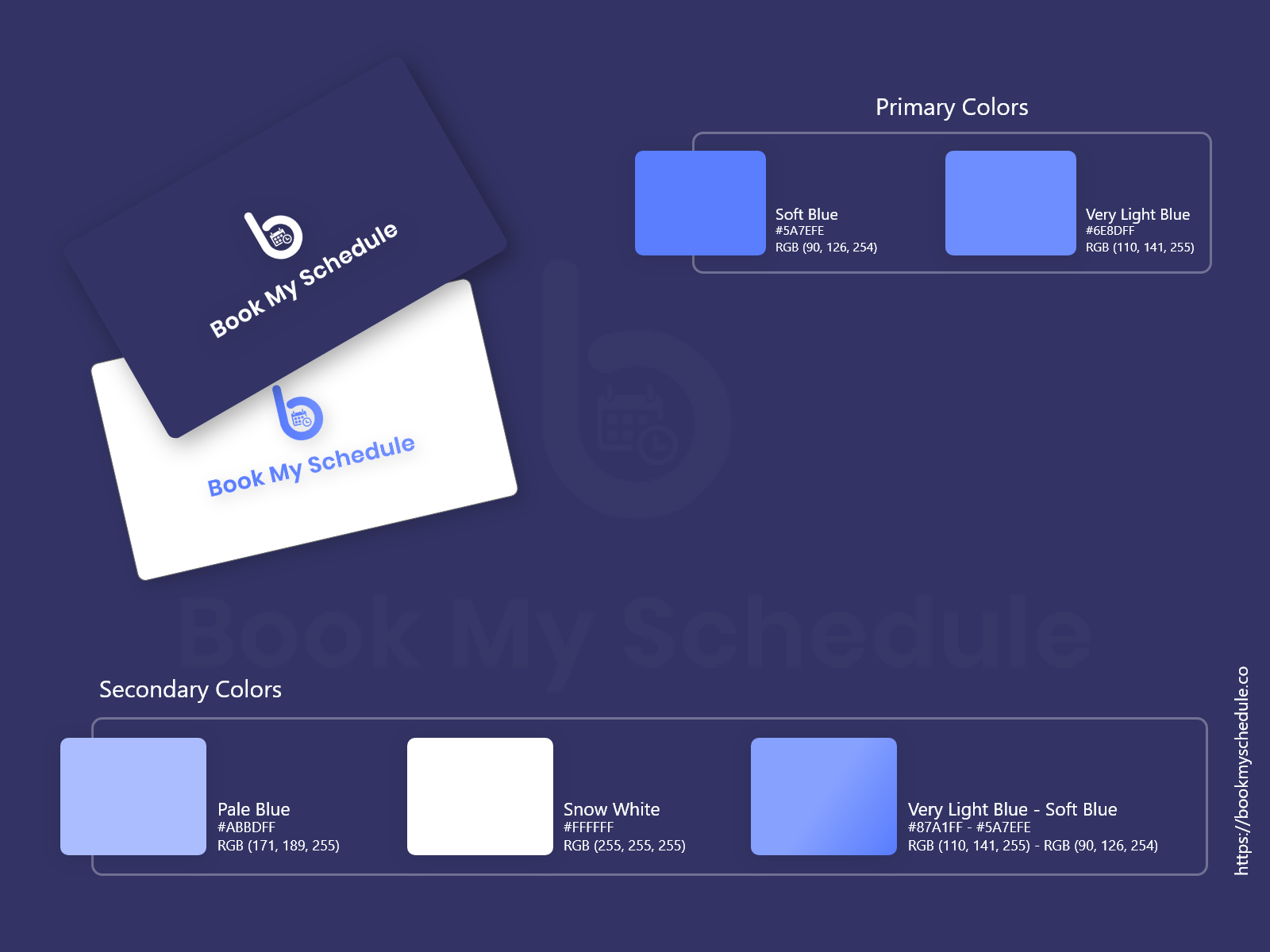 Bookmyschedule   brand guideline    dribbble    3