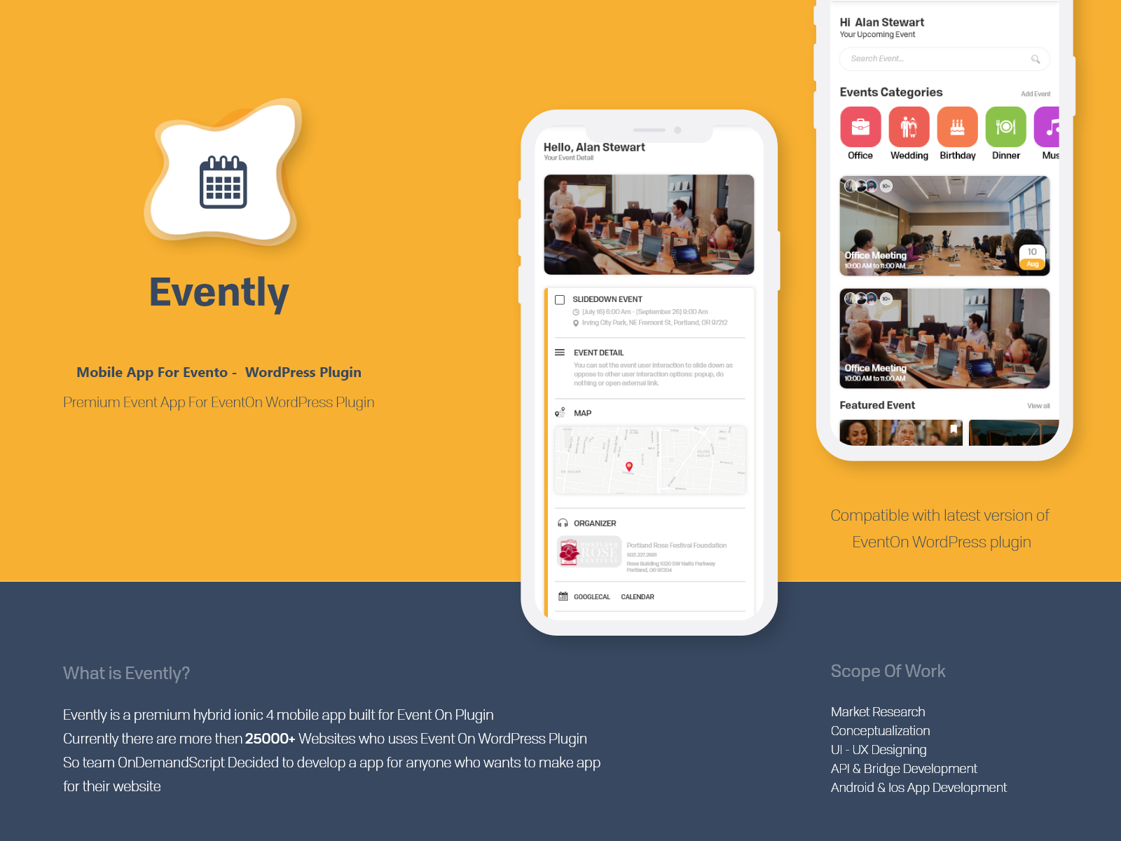 Evently   presentation   dribbble