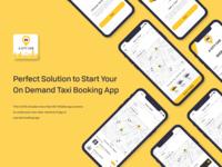 A City Cab - Taxi Driver App UI Kit - Uber Ola Similar App