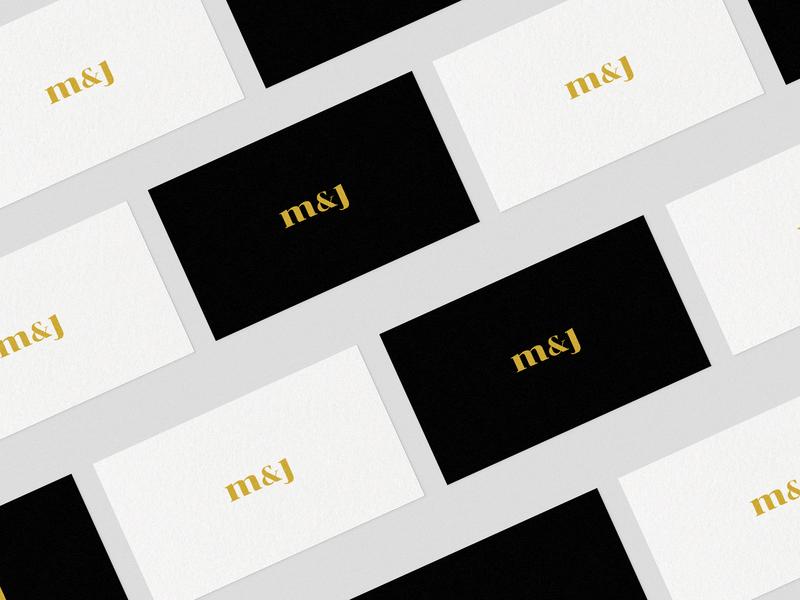 M & J - Card business card business card logo design adobe business card design j m logo mark symbol logo mark vector logo philippines design brand design cebu branding events