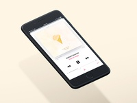 Salted Caramel - Single Artwork (on iPhone)