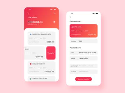 Bank card transfer