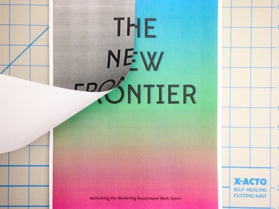 The New Frontier Cover gradient fade book cover