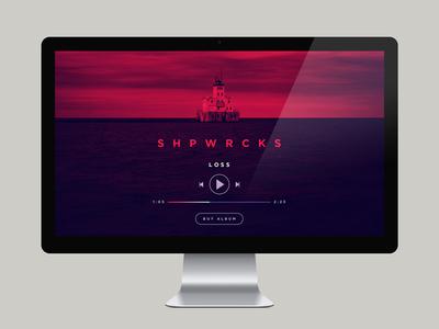 SHPWRCKS Web web design music player