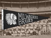 Milwaukee Braves Pennant