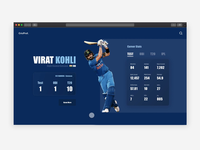 Conceptual Website for Cricket Players
