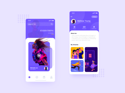 a cool set of purple apps