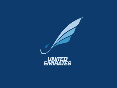 United Emirates Logo e u airline airplane flight