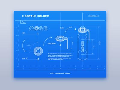 X Bottle Holder