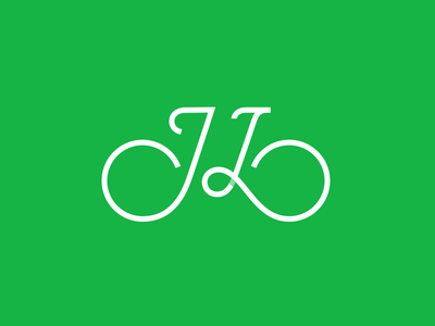 JL Bicycle giorgi bregvadze gio icon symbol type typograpgy mark logo monogram bicycle l j jl