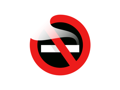 No Smoking giorgi cigarette negative space mark logo bregvadze gio symbol smoke sign icon pictogram no smoking