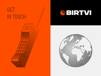 Illustrations for BIRTVI vector phone old motors modern illustration holy globe gio dots development design bregvadze branding blockchain