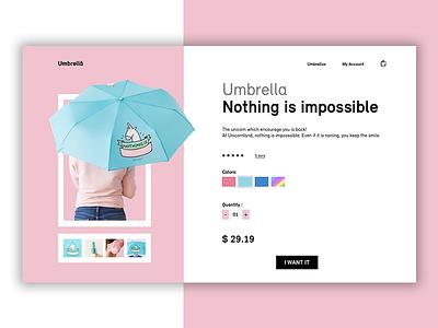 Daily UI 012 - E-commerce shop umbrella item single shop e-commerce ui daily 012