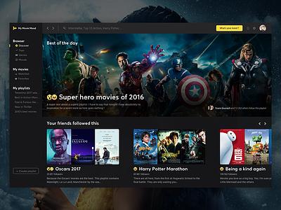 My Movie Mood - Home home mood tmdb movie imdb desktop application app