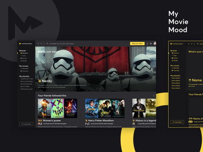 My Movie Mood - Desktop app mac ui ux desktop app mood movie