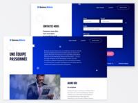 Business website - team & contact