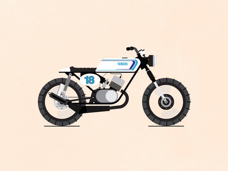 Motorbike bike vector motorbikes vintage motorbike illustration