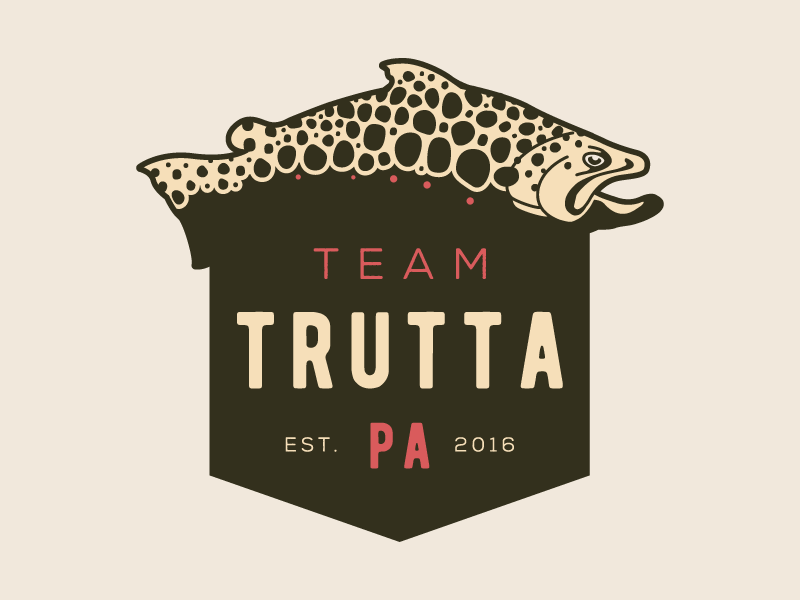 Team Trutta Logo illustration design trutta trout fish logo