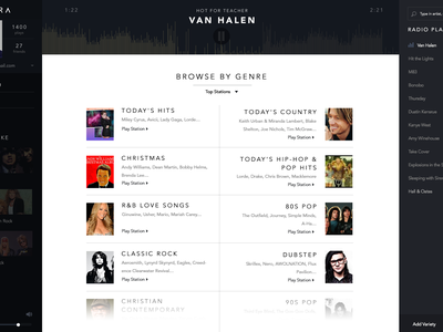 Pandora Concept handsome challenge music redesign player media avenir app pandora ui ux