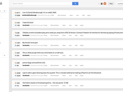 Exercise: A Googlier Reddit clean handsome challenge redesign reddit google ui ux exercise orangered