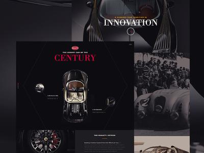 Bugatti Veyron bugatti marketing bodoni longform web exercise proxima car veyron