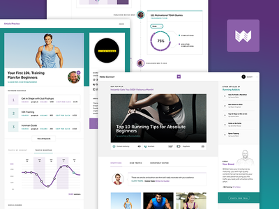Content Purchasing UI purple green museo typography content ux ui