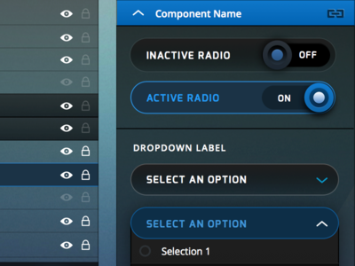 Radios and Dropdowns editor tone open sans exo ui