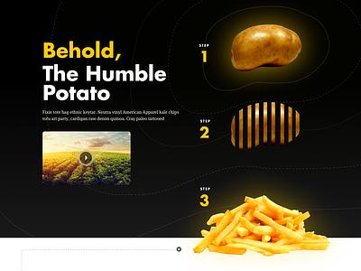McDonalds Redesign Concept redesign fastfood hamburgers yellow red ux ui web design marketing mcdonalds