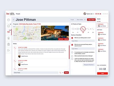 Keller Williams -  Phone Dialer UI dashboard mobile casestudy realestate platform saas ui ux productdesign servicedesign agency portfolio