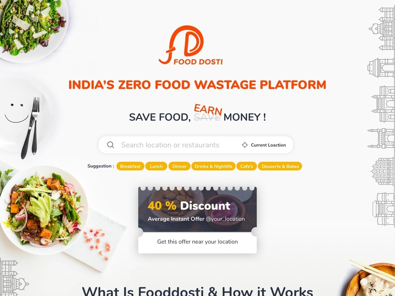Mockup web app search engine food website food web app food app food and drink design ux visual ui product design creative web design home page design