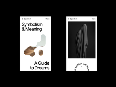 Dream Guide II – Mobile helvetica editorial guide index layout figma minimal typography web website concept exploration design art direction ui mobile ui mobile dreams