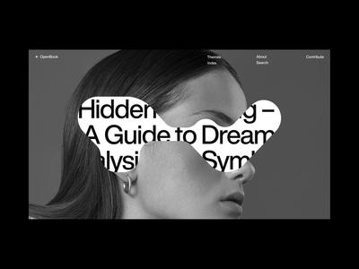 Dream Guide I - Design Exploration layout symbols shapes figma helvetica minimal dreams index guide typography branding website web styletile concept exploration design art direction ui