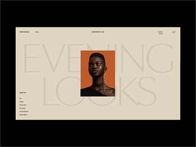 BoriBianka II - Online Shop lookbook women colour shopify concept ui branding typography styletile jewelry jewellery ecommerce fashion shop art direction design exploration